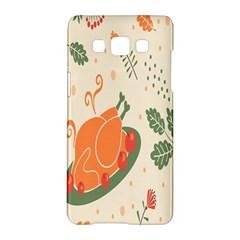 Happy Thanksgiving Chicken Bird Flower Floral Pumpkin Sunflower Samsung Galaxy A5 Hardshell Case  by Mariart