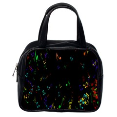 Colorful Music Notes Rainbow Classic Handbags (one Side) by Mariart