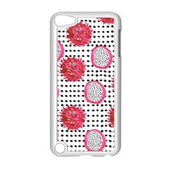 Fruit Patterns Bouffants Broken Hearts Dragon Polka Dots Red Black Apple Ipod Touch 5 Case (white) by Mariart