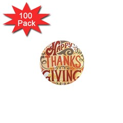 Happy Thanksgiving Sign 1  Mini Magnets (100 Pack)  by Mariart