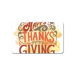 Happy Thanksgiving Sign Magnet (name Card) by Mariart
