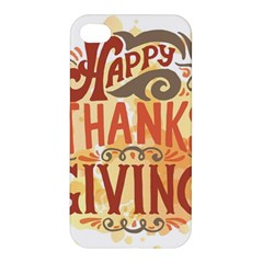 Happy Thanksgiving Sign Apple Iphone 4/4s Premium Hardshell Case by Mariart