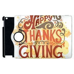 Happy Thanksgiving Sign Apple Ipad 3/4 Flip 360 Case by Mariart