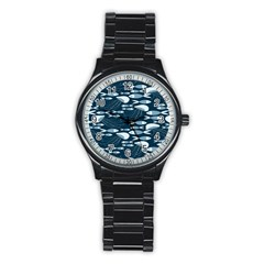 Jellyfish Fish Cartoon Sea Seaworld Stainless Steel Round Watch by Mariart