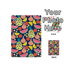 Fruit Pineapple Watermelon Orange Tomato Fruits Playing Cards 54 (mini)  by Mariart
