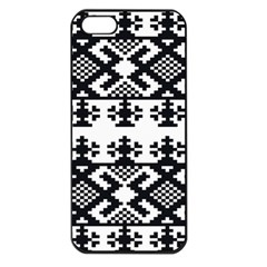 Model Traditional Draperie Line Black White Triangle Apple Iphone 5 Seamless Case (black) by Mariart