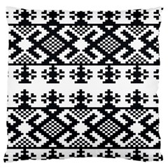 Model Traditional Draperie Line Black White Triangle Standard Flano Cushion Case (two Sides) by Mariart