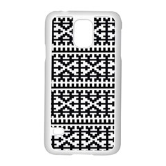 Model Traditional Draperie Line Black White Samsung Galaxy S5 Case (white) by Mariart