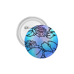 Lotus Flower Wall Purple Blue 1 75  Buttons by Mariart
