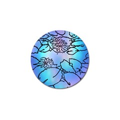 Lotus Flower Wall Purple Blue Golf Ball Marker (10 Pack) by Mariart