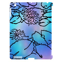 Lotus Flower Wall Purple Blue Apple Ipad 3/4 Hardshell Case (compatible With Smart Cover) by Mariart