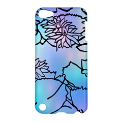 Lotus Flower Wall Purple Blue Apple Ipod Touch 5 Hardshell Case by Mariart
