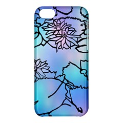 Lotus Flower Wall Purple Blue Apple Iphone 5c Hardshell Case by Mariart