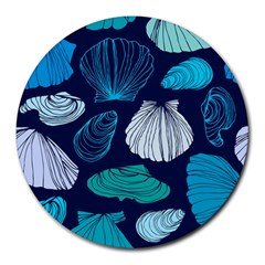 Mega Menu Seashells Round Mousepads by Mariart