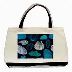 Mega Menu Seashells Basic Tote Bag by Mariart
