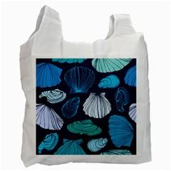 Mega Menu Seashells Recycle Bag (one Side) by Mariart