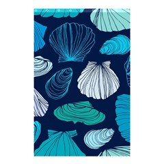 Mega Menu Seashells Shower Curtain 48  X 72  (small)  by Mariart