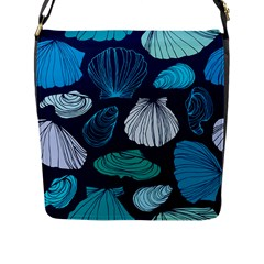 Mega Menu Seashells Flap Messenger Bag (l)  by Mariart