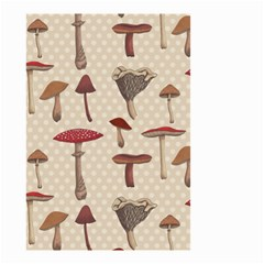 Mushroom Madness Red Grey Brown Polka Dots Small Garden Flag (two Sides) by Mariart