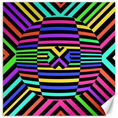 Optical Illusion Line Wave Chevron Rainbow Colorfull Canvas 16  X 16   by Mariart