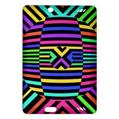 Optical Illusion Line Wave Chevron Rainbow Colorfull Amazon Kindle Fire Hd (2013) Hardshell Case by Mariart