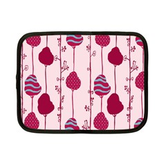 Original Tree Bird Leaf Flower Floral Pink Wave Chevron Blue Polka Dots Netbook Case (small)  by Mariart
