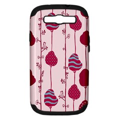 Original Tree Bird Leaf Flower Floral Pink Wave Chevron Blue Polka Dots Samsung Galaxy S Iii Hardshell Case (pc+silicone) by Mariart