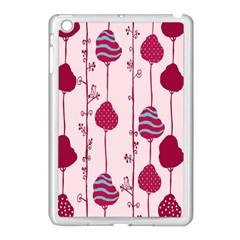 Original Tree Bird Leaf Flower Floral Pink Wave Chevron Blue Polka Dots Apple Ipad Mini Case (white) by Mariart