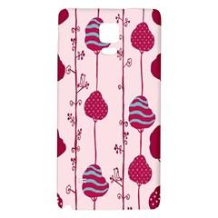 Original Tree Bird Leaf Flower Floral Pink Wave Chevron Blue Polka Dots Galaxy Note 4 Back Case by Mariart