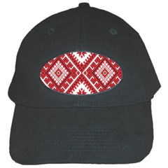Model Traditional Draperie Line Red White Triangle Black Cap by Mariart