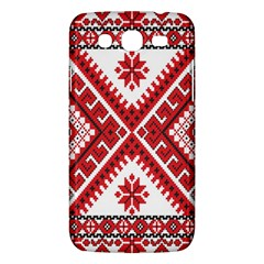 Model Traditional Draperie Line Red White Triangle Samsung Galaxy Mega 5 8 I9152 Hardshell Case  by Mariart