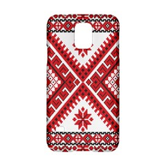 Model Traditional Draperie Line Red White Triangle Samsung Galaxy S5 Hardshell Case  by Mariart