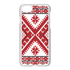 Model Traditional Draperie Line Red White Triangle Apple Iphone 7 Seamless Case (white) by Mariart