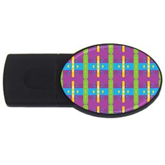 Stripes And Dots                           Usb Flash Drive Oval (4 Gb) by LalyLauraFLM