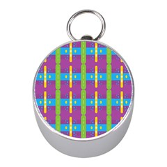 Stripes And Dots                           Silver Compass (mini) by LalyLauraFLM