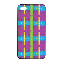 Stripes And Dots                     Apple Iphone 4/4s Seamless Case (black) by LalyLauraFLM