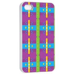 Stripes And Dots                     Apple Iphone 4/4s Seamless Case (white) by LalyLauraFLM