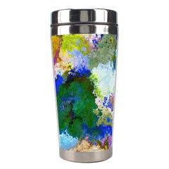 Color Mix Canvas                           Stainless Steel Travel Tumbler by LalyLauraFLM