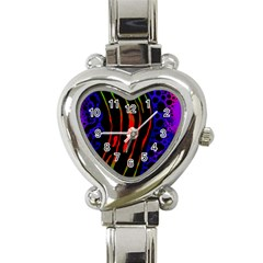 Frog Spectrum Polka Line Wave Rainbow Heart Italian Charm Watch by Mariart