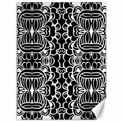 Psychedelic Pattern Flower Black Canvas 36  X 48   by Mariart