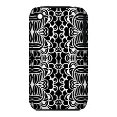 Psychedelic Pattern Flower Black Iphone 3s/3gs by Mariart