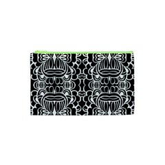 Psychedelic Pattern Flower Black Cosmetic Bag (xs) by Mariart
