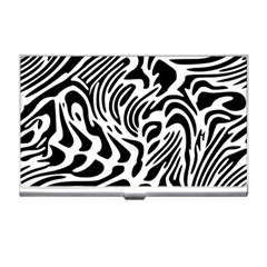 Psychedelic Zebra Black White Line Business Card Holders by Mariart