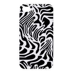 Psychedelic Zebra Black White Line Apple Iphone 4/4s Hardshell Case by Mariart