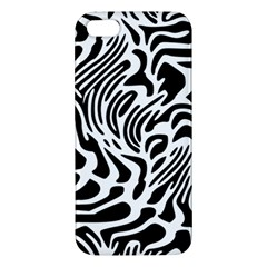 Psychedelic Zebra Black White Line Iphone 5s/ Se Premium Hardshell Case by Mariart