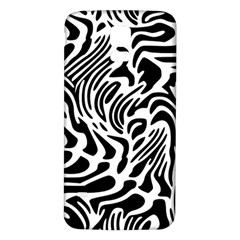 Psychedelic Zebra Black White Line Samsung Galaxy S5 Back Case (white) by Mariart