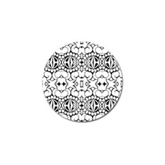 Psychedelic Pattern Flower Crown Black Flower Golf Ball Marker (10 Pack) by Mariart