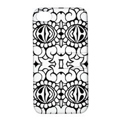 Psychedelic Pattern Flower Crown Black Flower Apple Iphone 4/4s Hardshell Case With Stand by Mariart