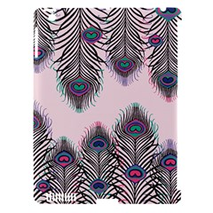 Peacock Feather Pattern Pink Love Heart Apple Ipad 3/4 Hardshell Case (compatible With Smart Cover) by Mariart