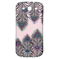 Peacock Feather Pattern Pink Love Heart Samsung Galaxy S3 S Iii Classic Hardshell Back Case by Mariart